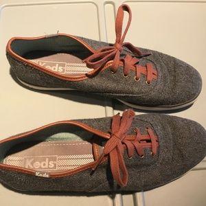 Grey Keds w/Brown Trim & Laces